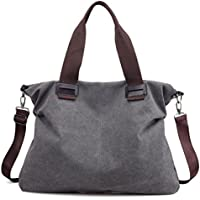 Women's Canvas Shoulder Bags Crossbody Tote Purse Work Travel Weekender Bag