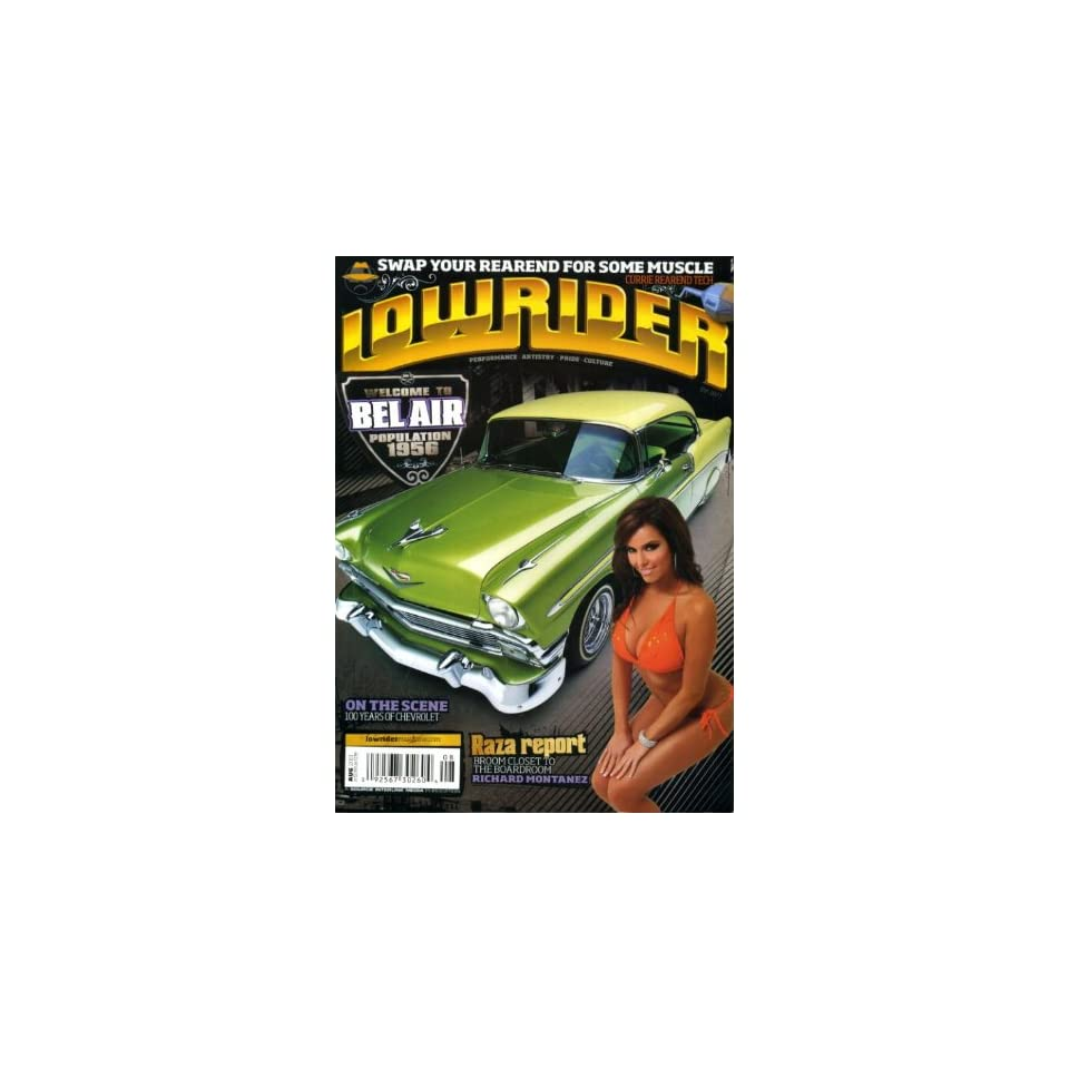 Lowrider August 2011 Candy Ace on Cover (also a 1956 Chevy Bel Air), 100 Years of Chevrolet, 1971 Monte Carlo, 1964 Impala Station Wagon, 1957 Chevy Convertible, 1951 Chevy Deluxe Truck