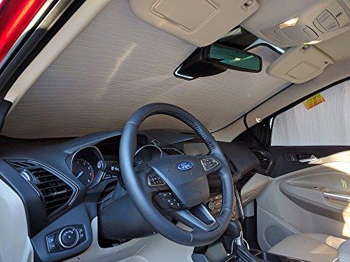 HeatShield, The Original Windshield Sun Shade, Custom-Fit for Ford Escape SUV w/Sensor 2017, 2018, Silver Series