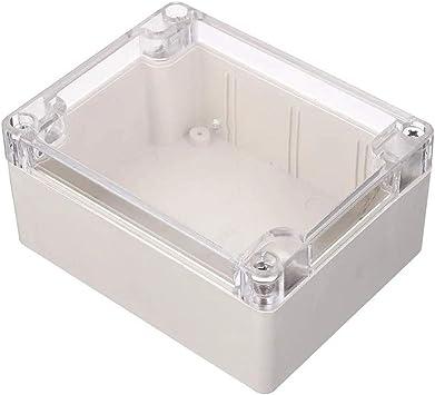 WANGZHI Caja de Proyectos Electrónicos de Plástico Impermeable Electrónico de la Cubierta de la Caja del Proyecto de la Cubierta Clara de 115 x 90 x 55 mm: Amazon.es: Electrónica
