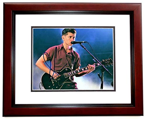 Alex Turner Signed - Autographed Arctic Monkeys 8x10 inch Photo MAHOGANY CUSTOM FRAME