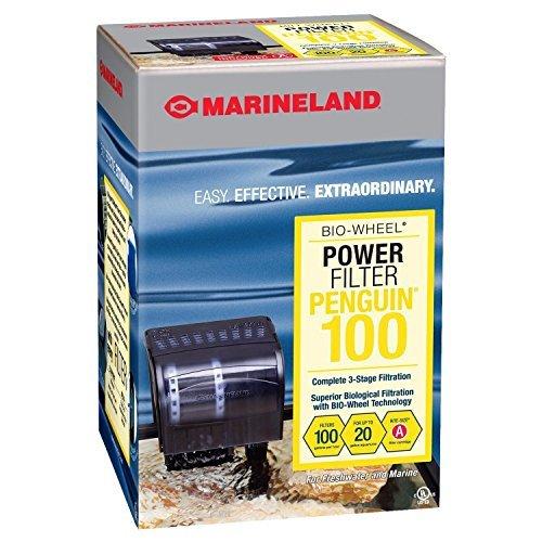 The Best Marineland Penguin Power Aquarium Filter, 10 to 20-Gallon, 100 GPH, Fish Tank