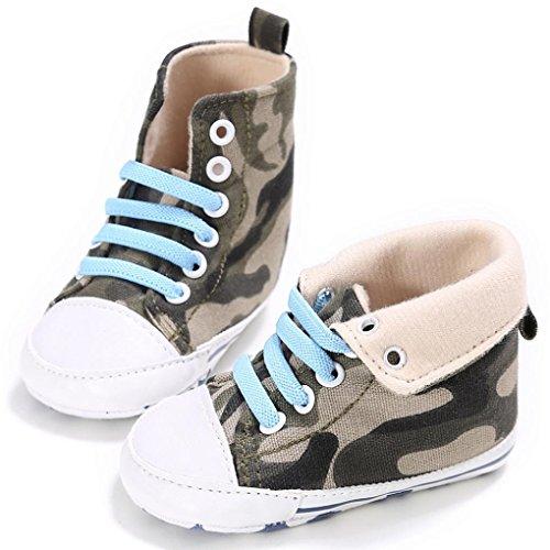 Hunpta Baby Kleinkind niedliche Krippe Schuhe Slip On Komfort Schuhe Canvas High tops weiche Anti Rutsch Schuhe (Alter: 6 ~ 12 Monate, Camouflage) Camouflage