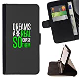 XP-Tech / Flip Wallet Diary PU Leather Case Cover With Card Slot for HUAWEI Google Nexus 6P - Dreams Real Chase Green Grey Poster