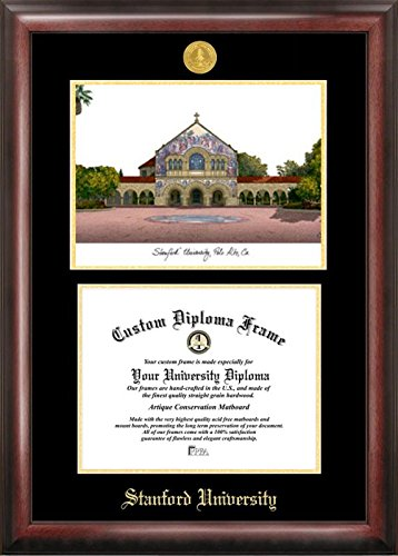 (Campus Images CA932LGED Stanford University Embossed Diploma Frame with Lithograph Print, 8.5