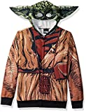 Star Wars Big Boys' Yoda Sublimated Fleece Zip Costume Hoodie, multi, Medium-12