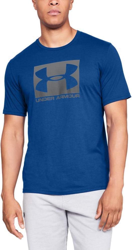 TALLA S. Under Armour Boxed T Camiseta de Manga Corta con Logo Hombre