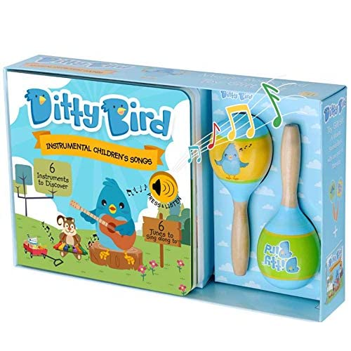 Ditty Bird Our Best Gift Box Interactive Instrumental Kids Songs Book Toy Maracas