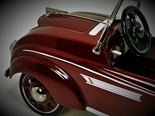 High End Collector Pedal Car T 1930 1940 Ford Antique Vintage Concept GT Hot Rod 1 Race Sport 24 Rare Sportscar 18 Midget Model 40 1966 Classic Museum Quality Metal Collectible NOT A Child Ride On (1940 Ford Hot Rod)