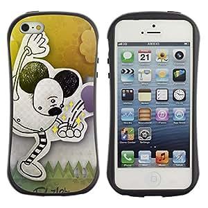 Paccase / Suave TPU GEL Caso Carcasa de Protección Funda para - Children'S Drawing Ears Black Art Pastel - Apple Iphone 5 / 5S