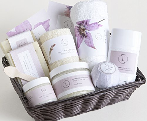 Natural SPA Gift Basket - The Complete Luxury Set - By Lizush