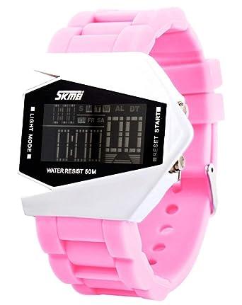 Reloj de Pulsera Impermeable para niños Cool LED Digital Sport Diver (Rosa)