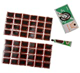 Multi-Function Rectangle Motor Bicycle Bike & Tyre Tire Inner Tube Puncture Rubber Patches Repair Kit (48Pcs)