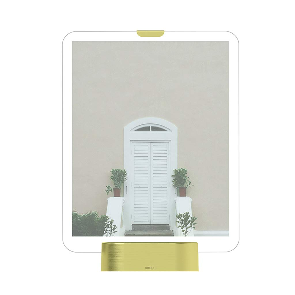 JSSFQK LED Lighting Photo Frame, Glass Photo Frame Decoration Can Put 7 Inch Photos, Can Be Used As Gifts (Color : A) by JSSFQK