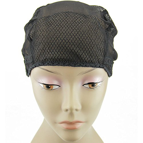 MsFenda Lace Wig Making Cap, Glueless Wig Cap, Weaving Mesh Net Cap, flexible Wig Cap, 3pcs/lot by Ms Fenda