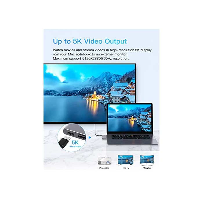 Haz clic aquí para comprobar si este producto es compatible con tu modelo : Material de aluminio de alta calidad con el mismo color y apariencia que el MacBook. Diseñado para MacBook Air 2018, MacBook Pro 2018/2017/2016 con puerto thunderbolt 3, 2 puertos USB 3.0, lector de tarjetas micro SD / SD .MOKAI START USB 3.0 Hub es el compañero perfecto para tu MacBook Pro para mejorar la productividad. : El puerto Thunderbolt 3 admite suministro de energía de 100 W, salida de video de 5K a 60Hz y hasta 40 Gbps con dispositivos Thunderbolt y hasta 10 Gbps con dispositivos USB 3.1 Gen 2.
