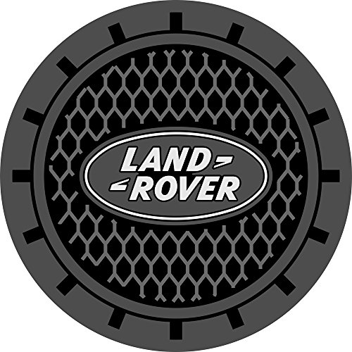 Auto sport 2.75 Inch Diameter Oval Tough Car Logo Vehicle Travel Auto Cup Holder Insert Coaster Can 2 Pcs Pack (Land Rover)
