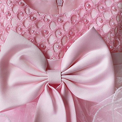 Baby Party Princess Pageant Pink Girls Communion Bowknot Wedding Dress TiaoBug Flower dqU8dw
