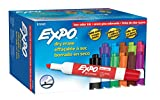 EXPO Low-Odor Dry Erase Markers, Chisel Tip, Assorted Colors. 12-Count
