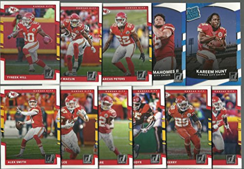 2016 & 2017 Panini Donruss Football Kansas City Chiefs 2 Team Set Lot Gift Pack 25 Cards W/Rookies (Chiefs Kansas City Football Card)