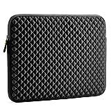 Laptop Sleeve, Evecase 15~15.6 inch Diamond Foam Splash & Shock Resistant Neoprene Universal Sleeve Zipper Case Bag for Dell HP Gaming Chromebook Ultrabook Notebook - Black