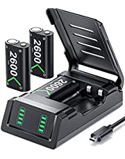 Controller Battery Pack Replacement for Xbox One/Xbox Series X S, VOYEE 3x2600 mAh Rechargeable Battery Pack Compatible with Xbox Series X S/Xbox One/Xbox One S/Xbox One X/Xbox One Elite Controller