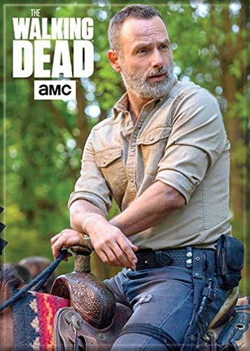 """Ata-Boy The Walking Dead Rick on Horse 2.5"""" x 3.5"""" Magnet for Refrigerators and Lockers"""