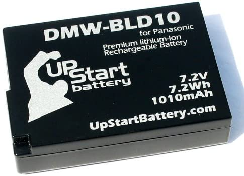 Replacement for Panasonic DMW-BLD10PP Battery and Charger 1010mAh 7.2V Lithium-Ion Compatible with Panasonic DMW-BLD10 Digital Camera Batteries and Chargers