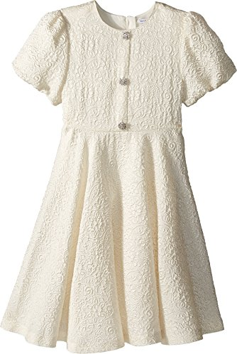 Dolce & Gabbana Kids Girl's Short Sleeve Dress (Big Kids) White 8 by Dolce & Gabbana