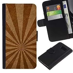 iBinBang / Flip Funda de Cuero Case Cover - Líneas de emisión de textura - Samsung Galaxy S6 SM-G920