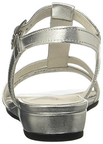 Gabor Women's Comfort Sport Ankle Strap Sandals, Multicoloured Multicolour (Silber 10)