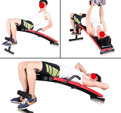 GaoMiTA Folding Multifunctional Supine Board Thickening and lengthening Fitness Equipment Home sit-ups and Abdominal Panels Abdominal Board by GaoMiTA (Image #2)
