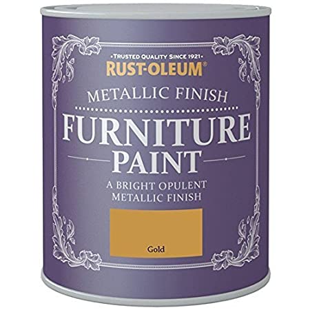 Rust-Oleum Metallic Finish Furniture Paint Gold 125ml
