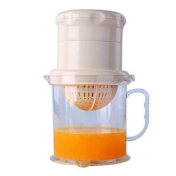okgeot 2-in-1 exprimidor y Manual Baya Fruta Prensa Exprimidor, bebé alimentos práctico Fresh juice extractor, 400ml-white: Amazon.es: Hogar