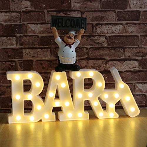 DELICORE Decorative LED Illuminated Marquee Letter Sign BAR (16.7