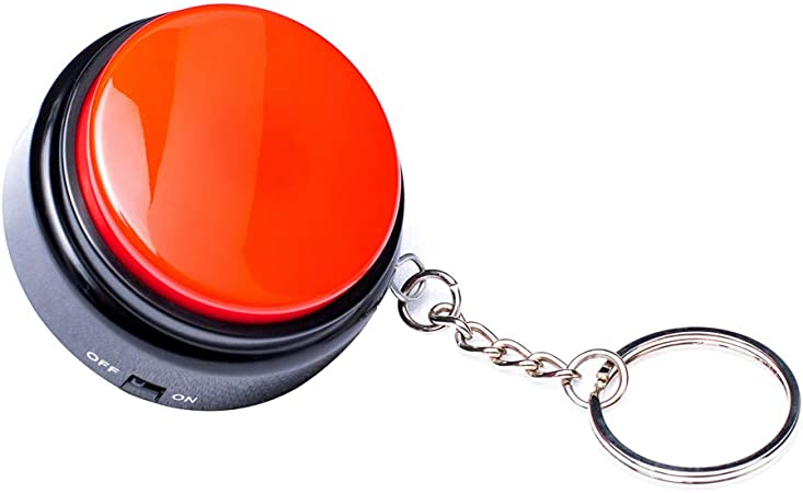 Neutral Recordable Talking Button with Keychain, 30s Voice Recording Time Sound Button Recording Your Own Words