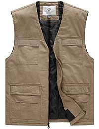 WenVen Men's Quilt Lined V-Neck Vest