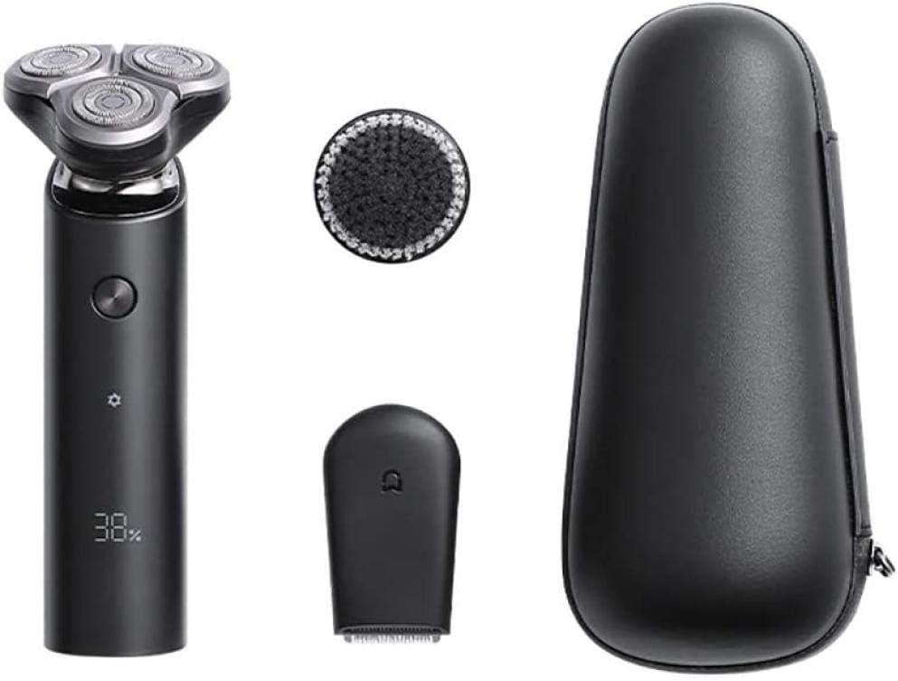 Afeitadora Para Xiaomi Mijia Electric Shaver S500C Flex Razor Head 3 Afeitado En Seco Y Húmedo Lavable Principal-Sub Doble Cuchilla Turbo + Modo Cómodo Limpio