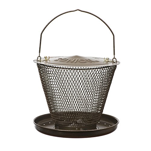 No/No Bronze Tray Bird Feeder  BZUD00326 (Bird Bronze No Feeder Mesh)