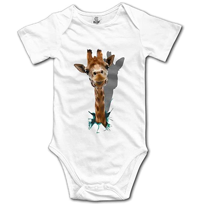 e0185b07a280 Amazon.com  FUNINDIY Giraffe Baby Onesie Infant Clothes  Clothing