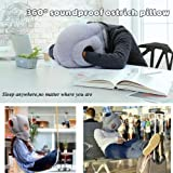 Matoen 360° Soundproof Ostrich Pillow Kids Plush Dolls Toys Funny Home Office Sofa Decor (Gray)