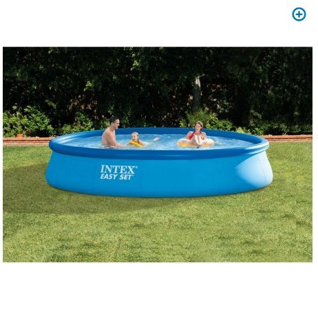 Intex 13' X 33'' Easy Set Above Ground Swimming Pool with Filter Pump (Summer Escapes 15 X 42 Pool Pump)