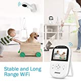"ANNKE Premium Wireless Compact Video Baby Monitor with 2.4"" Color LCD Screen Controller Unit, Digital Camera, Infrared Night Vision, Two Way Talk Back, 2.4GHz Encrypted WiFi Long Transmission Range"