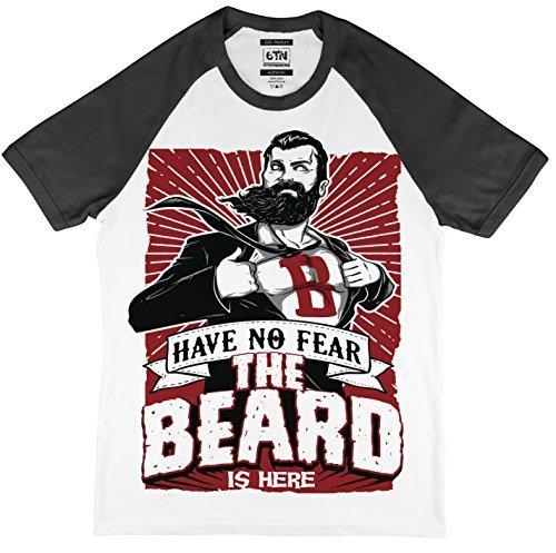6TN kriegen No Fear The Beard is Here Baseball Stil T-Shirt