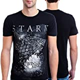 HBO'S Game of Thrones Men's Winter Is Coming Stark T-Shirt, Black, X-Large