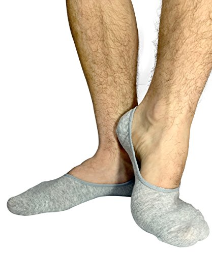 STOMPERJOE Men No Show Socks Cotton Casual Liner Loafer Socks Invisible Footies from StomperJoe