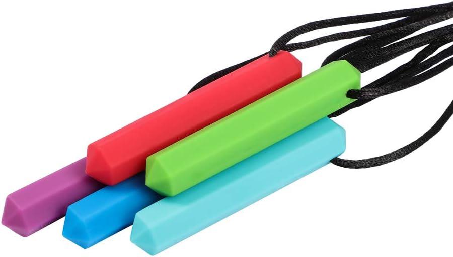 Jouets /à M/âcher Autisme Chou 1pc Anneau De Dentition Pencil Collier