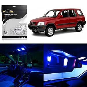 Partsam 1997 2001 Honda Cr V Blue Interior Light Led Package 6 Pieces Automotive