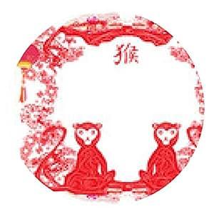 alfombrilla de ratón signos del zodiaco chino: Mono - ronda - 20cm