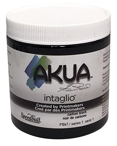 (Akua Intaglio Non-Toxic Water Based Ink, Carbon Black, 8 Ounces)